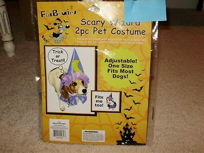 Dog, Halloween Costume, Scary Wizard, One Size All, 2- Piece, New with Tags