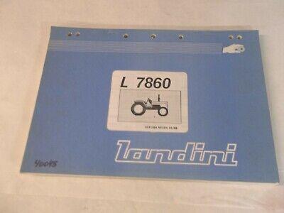 Landini L7860 Tractor Parts Book