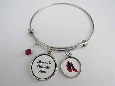 - There's No Place Like Home Wizard Of Oz Adjustable Bangle Charm Bracelet