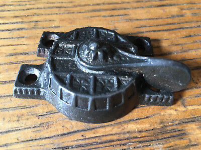 Antique cast iron window sash lock 2 1/2