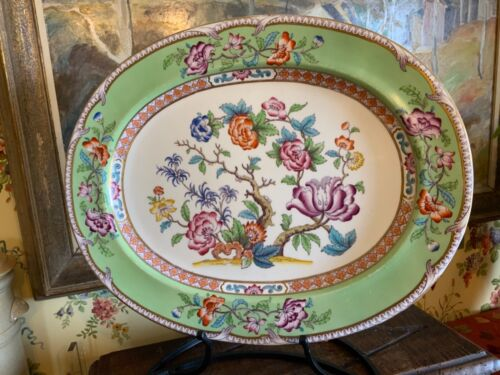 Large Antique English 19th C Serving Platter 21 inches Circa 1880