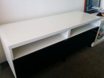 IKEA white/black TV stand with drawers Erskineville Inner Sydney Preview