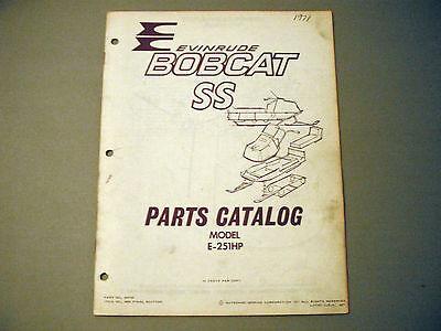 1971 Vintage Evinrude Bobcat SS Parts Manual