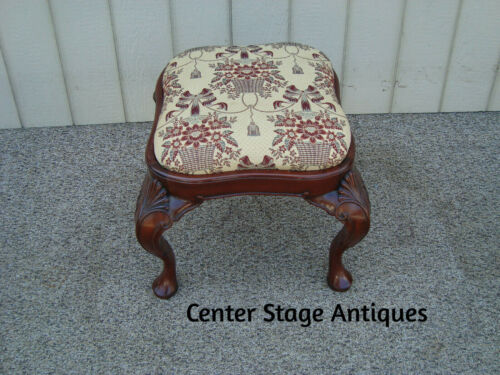 60373 Solid Mahogany Vanity Bench Stool Chair