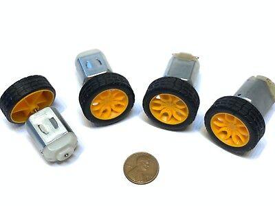 4 Sets Motor Small Toy 30mm Diameter 2mm Shaft Car Robot Tire Wheel Dc 4pcs C20