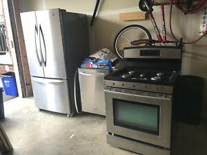 Stainless Jennair GAS Range/ Kenmore Fridge/ Maytag Dishwasher
