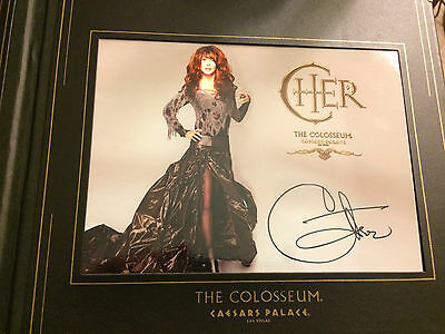 Cher Horizontal Photo in Album Book From Colosseum At Ceasars Palace Las Vegas