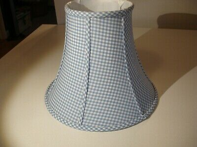 Pottery Barn Kids Large Bell Lamp Shade - Blue Gingham Blue Gingham Lamp Shade