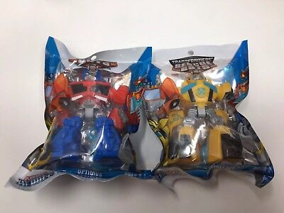 TRANSFORMERS RESCUE BOTS LOT OF 2- OPTIMUS PRIME & BUMBLEBEE PLAYSCHOOL HEROES - Bumblebee Rescue Bot