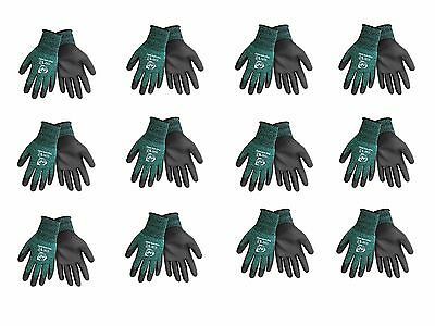 PUG-14TS Touchscreen Compatible Work glove with Green & White Nylon Shell, XS-XL