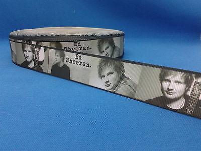 1 metre length of ED SHEERAN design Cake/Hair/craft ribbon @ MrsMario's