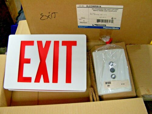 NEW THOMAS & BETTS XLEDWRN-N GALAXY SERIES AC/DC SELF POWERED LED EXIT SIGN