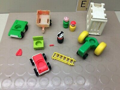Vintage 1970's Fisher Price Little People Damaged Lot