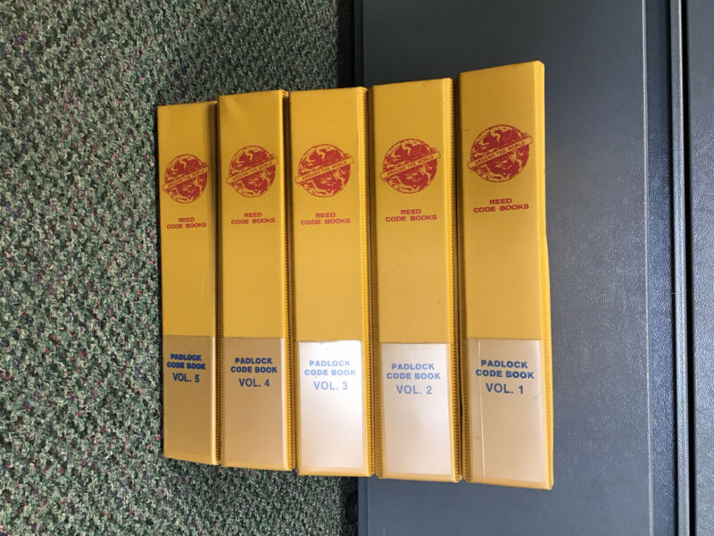 Lot Of 5 Reed Padlock Code Books Vol. 1-5 Around The World Locksmith Ledger