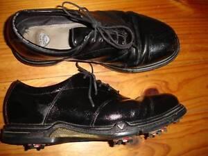 Callaway Golf Sport Classic Oxford Shoes Black Leather Mens Sz 10