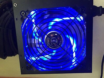 NEW 600W 650W 650 Watt 700W 750W 775W Quiet Large Fan LED ATX Power Supply PSU