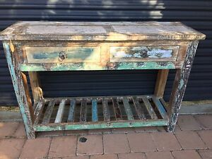 Rustic 2 drawer Console table Runaway Bay Gold Coast North Preview
