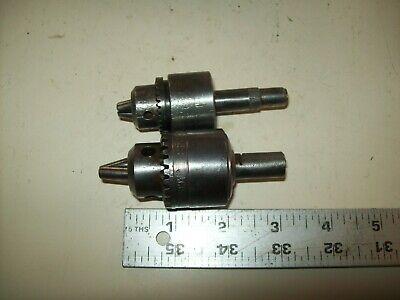 2 Small Drill Chucks No Keys Jacobs Multi-craft. Mc4 116-38 Cap English 1