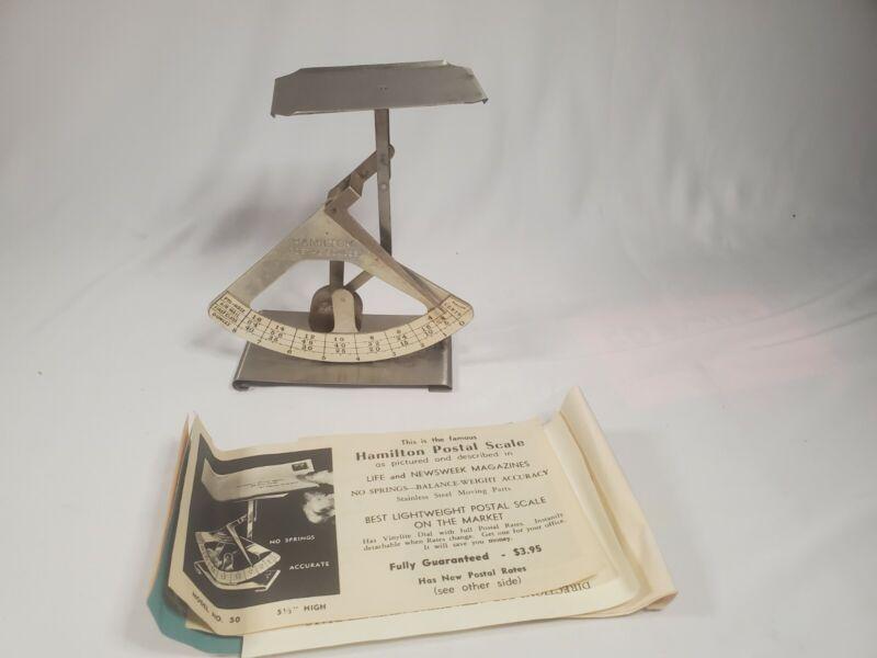 Vintage Hamilton Postal Scale 0-8 oz. Very Nice Collectible - Model No. 50