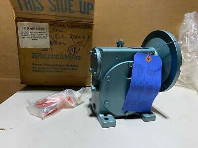 Robbins Myers 2225f Worm Gear Speed Reducer Rh 301 Ratio 1.26 Input Hp