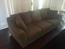 4 seater fabric sofa couch. Super comfortable Green Valley Liverpool Area Preview
