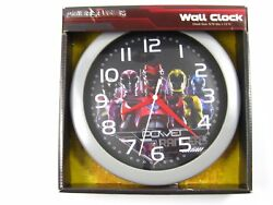 POWER RANGERS WALL CLOCK 10 Quarts Accuracy Battery Operated