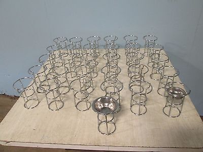 Lot Of 31 Commercial Chrome Cradles For Clarified Butter Warmer Server