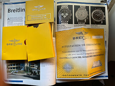 Factory Breitling SuperOcean Heritage 46 A17320 Manual And COSC Certificate Only