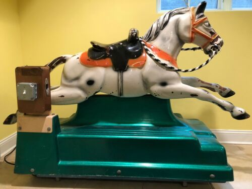 Antique Horse Coin Op Kiddie Ride Made in Italy very rare