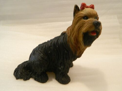 Yorkshire Terrier Yorkie Dog Red Bow Italy 3471 Hand Painted