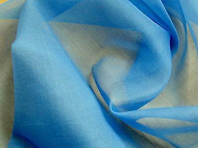 Ткань 3 Yd Remnant-Stunning MEDIUM BLUE