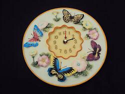 Butterflies 3D Wall Clock, Polystone 8 Round ~ Kitchen, Nursery, Bedroom, Patio