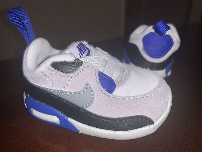 Baby Nike Air Max 90 Soft Bottom Crib Shoes - Light Smoke Grey/Blue - Size 1C