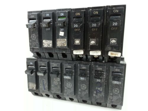 General Electric Lot of THQL 1 pole 20A and 30A circuit breakers