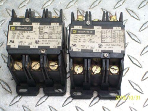 *LOT OF 2* SQUARE D 8910 DPA23 CONTACTORS 110/120V COILS