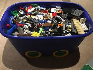 25lbs of Lego with Storage Bin
