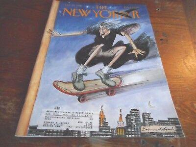OCT 30 1995 NEW YORKER vintage magazine - WITCH ON SKATEBOARD -HALLOWEEN