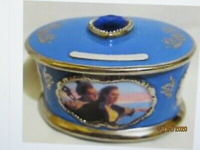 Ardleigh Elliott Porcelain Titantic Music Box My Heart Will Go On-Indiv.Numbered