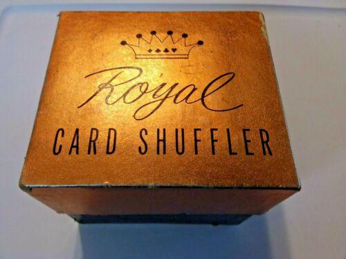 Vintage Card Shuffler in Box -  ROYAL MODEL Hand Crank