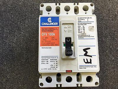 Challenger Circuit Breaker 100 Amp 600v 3 Pole Cfv3100