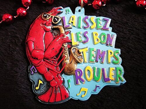 LAISSEZ LES BON TEMPS ROULER or LET THE GOOD TIMES ROLL CRAWFISH MG BEAD (B394)