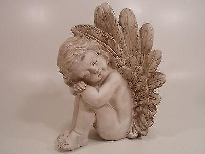 Angel Figurine Cherub Statue Sleeping Baby Outdoor Garden or Indoor Decor Resin