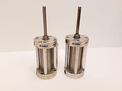 Lot Of 2 Bimba Flat-1 Airpneumatic Cylinder Fo 091.75 Fo091.875 Free Shipping