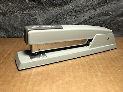 Vintage Swingline 747 Metal Desk Stapler Gray Long Island City Usa Retro