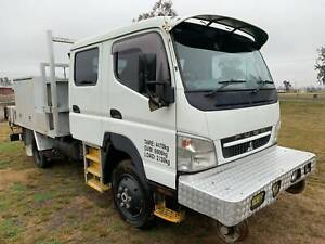 Mitsubishi Canter 4x4 Crewcab Traytop/Service Vehicle with Crane Truck Inverell Inverell Area Preview