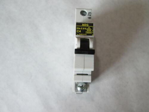 AEG Elfa E81S-C4 Circuit Breaker  (1 Pole, 4 Amp, 240/415 Volt)