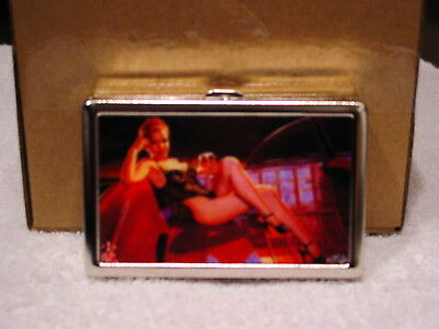SEXY WOMAN LADY CIGARETTE CASE CREDIT CARD ID AND MONEY HOLDER WALLET #2 Credit Card Cigarette Case Wallet