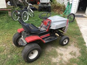 Look for old riding lawn mower