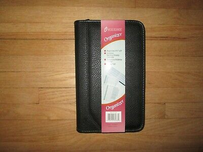 New At-a-glance Black Zippered Organizer Planner 4 78 X 8