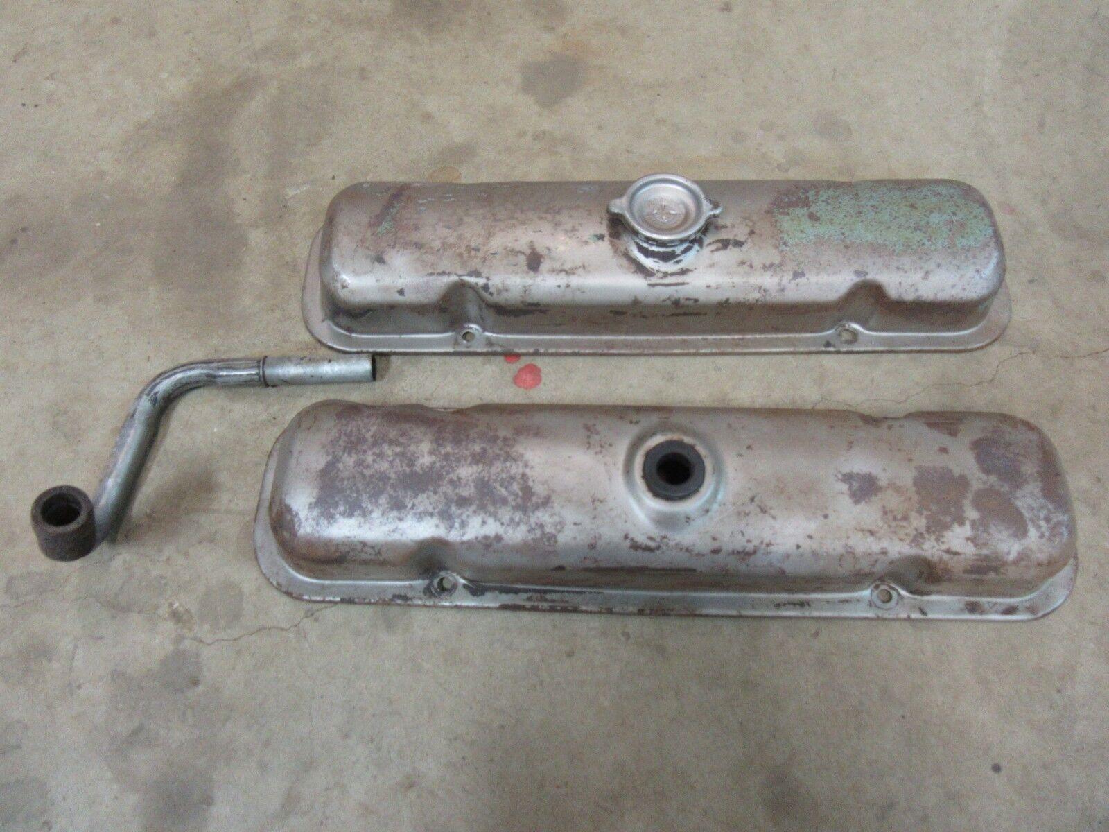 1970 Pontiac Catalina 350 v8 engine motor original valve cover set pair hot rod